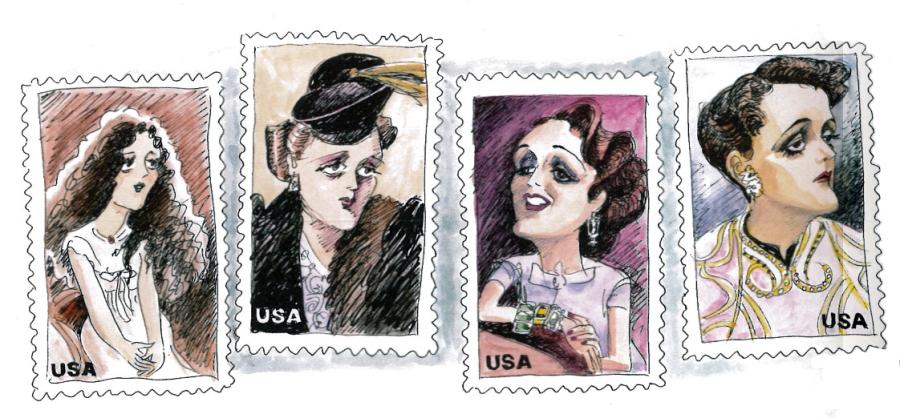 Sorel - Mary Astor cinderella stamps